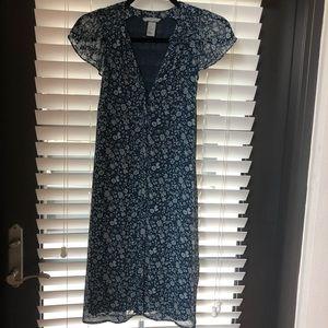 H&M Floral Summer Dress Blue White